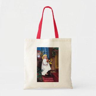 Ellen H. Clapsaddle: Santa Looking through Window Tote Bag