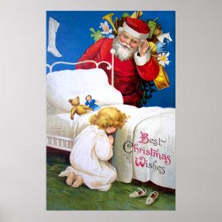 Ellen H. Clapsaddle: Santa que escucha Póster