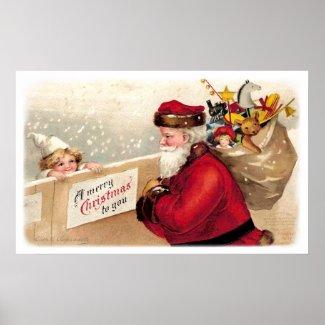 Ellen Clapsaddle: Santa with Child