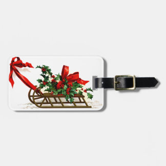 Ellen H. Clapsaddle: Sledge with Holly Bag Tag