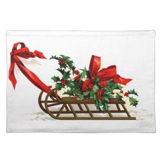 Ellen H. Clapsaddle: Sledge with Holly