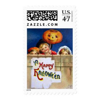 Ellen H. Clapsaddle: Three Halloween Children Postage