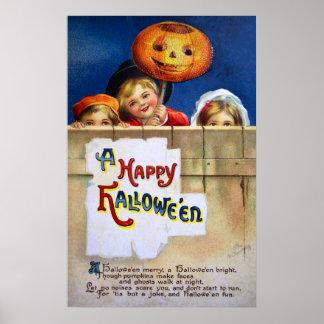 Ellen H. Clapsaddle: Three Halloween Children Poster
