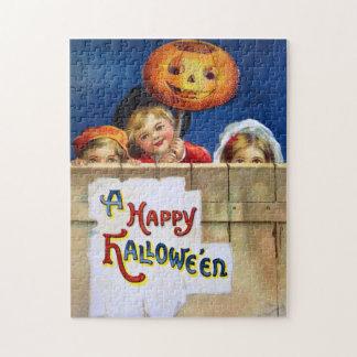 Ellen H. Clapsaddle: Three Halloween Children Puzzle