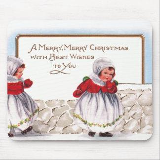 Ellen H. Clapsaddle - Three Little Christmas Girls Mouse Pad