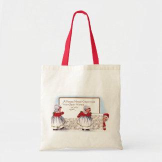 Ellen H. Clapsaddle - Three Little Christmas Girls Tote Bag