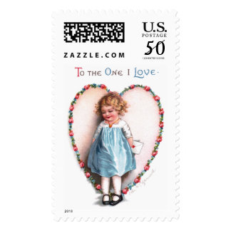 Ellen H. Clapsaddle: To The One I Love Postage