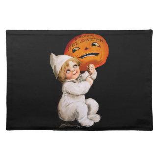 Ellen H. Clapsaddle: Toddler with Pumpkin Cloth Placemat