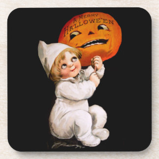 Ellen H. Clapsaddle: Toddler with Pumpkin Drink Coaster