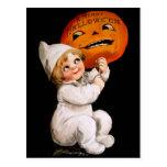 Ellen H. Clapsaddle: Toddler with Pumpkin Post Card