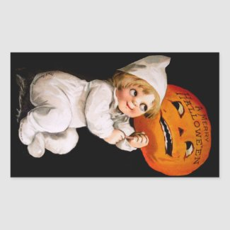 Ellen H. Clapsaddle: Toddler with Pumpkin