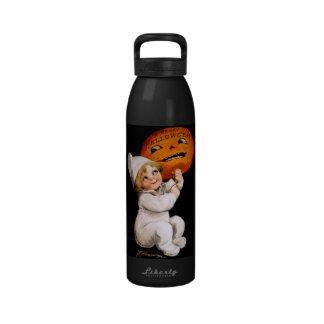 Ellen H. Clapsaddle: Toddler with Pumpkin Water Bottle