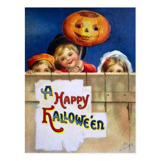 Ellen H. Clapsaddle: Tres niños de Halloween Postal
