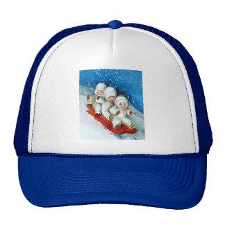 Ellen H. Clapsaddle: Winter Kids on Sledge Trucker Hat