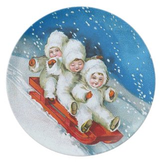 Ellen H. Clapsaddle: Winter Kids on Sledge