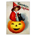 Ellen H. Clapsaddle: Witch in Jack O'Lantern Greeting Card
