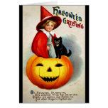Ellen H. Clapsaddle: Witch in Jack O'Lantern Card