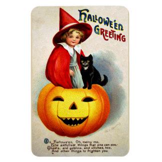 Ellen H. Clapsaddle: Witch in Jack O'Lantern Magnet
