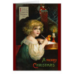Ellen H. Clapsaddle - Writing Christmas Girl Card