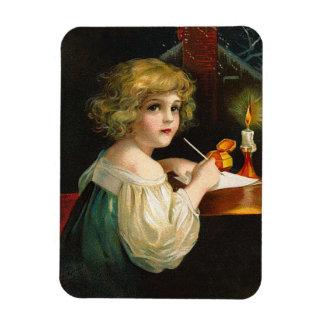 Ellen H. Clapsaddle - Writing Christmas Girl Magnet