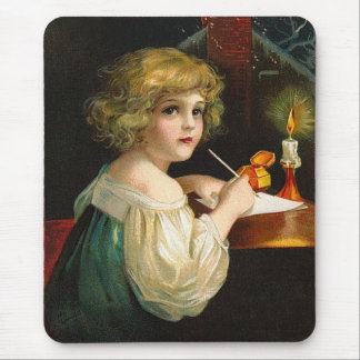 Ellen H. Clapsaddle - Writing Christmas Girl Mouse Pad