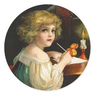 Ellen Clapsaddle: Writing Christmas Girl