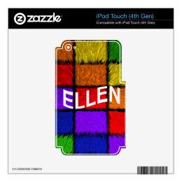 ELLEN iPod TOUCH 4G DECALS