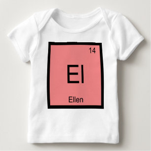 Baby name ellen gifts on zazzle ellen name chemistry element periodic table baby t shirt urtaz Image collections
