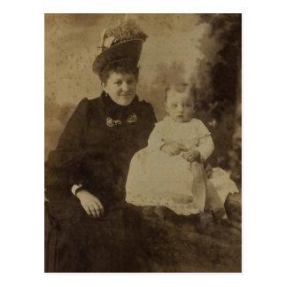 Ellen (RUPP1868-1964) y hija Ellen GRESER Tarjeta Postal