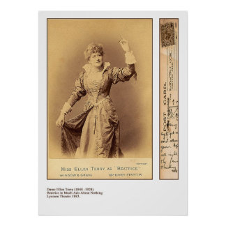 Ellen Terry como impresión de Beatriz Poster