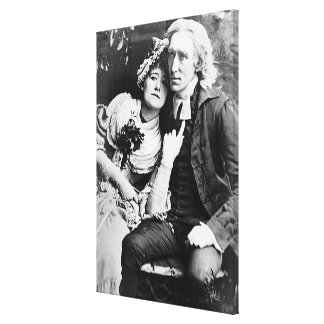 Ellen Terry & Henry Irving - Vicar of Wakefield Canvas Print