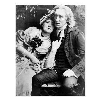 Ellen Terry y Henry Irving - vicario de Wakefield Postales
