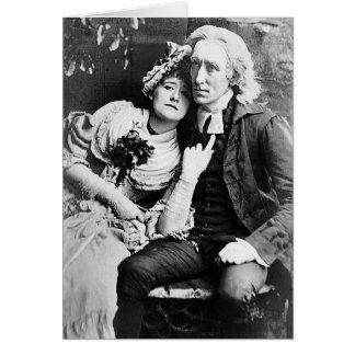 Ellen Terry y Henry Irving - vicario de Wakefield Tarjeta De Felicitación