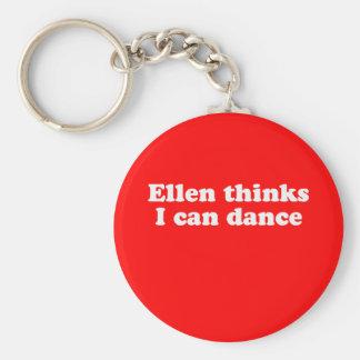 Ellen thinks I can dance Basic Round Button Keychain