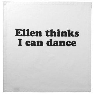 Ellen thinks I can dance Napkin