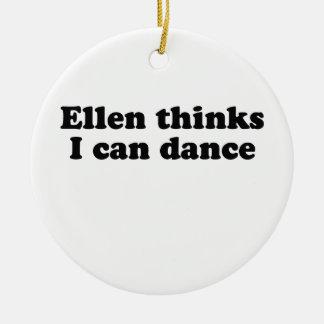 Ellen thinks I can dance Christmas Tree Ornaments