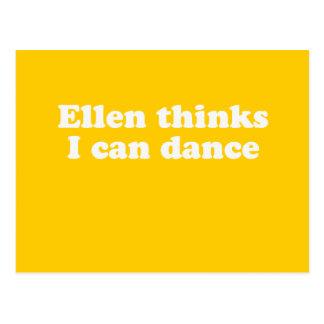 Ellen thinks I can dance Postcard
