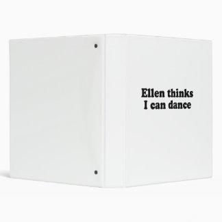 Ellen thinks I can dance Vinyl Binder