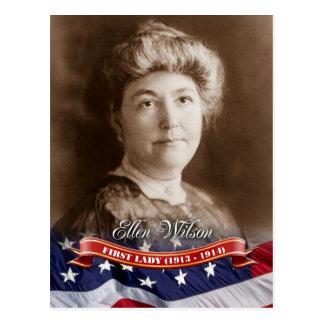 Ellen Wilson, primera señora de los E.E.U.U. Tarjeta Postal