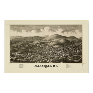 Ellenville, NY Panoramic Map - 1887 Poster