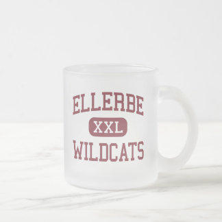 Ellerbe - Wildcats - Middle - Ellerbe Frosted Glass Coffee Mug