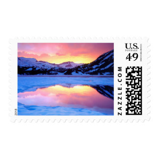 Ellery Lake at Sunset Postage