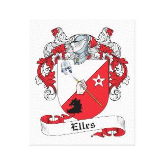 Elles Family Crest Stretched Canvas Prints