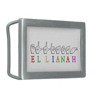 ELLIANAH  FINGERSPELLED ASL SIGN NAME RECTANGULAR BELT BUCKLE