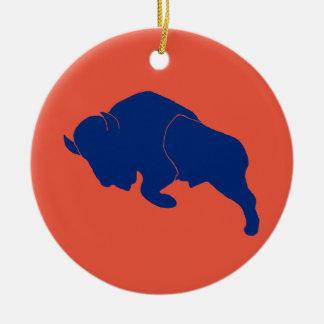 Ellicott Buffalo Ceramic Ornament