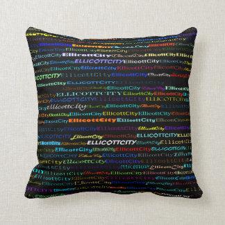 Ellicott City Text Design I Throw Pillow Throw Pillows