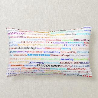 Ellicott City Text Design II Lumbar Pillow Throw Pillow