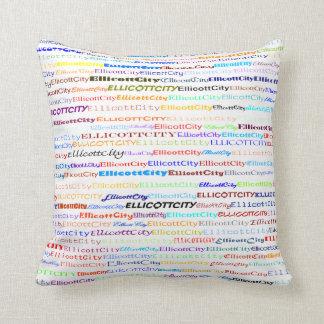 Ellicott City Text Design II Throw Pillow Pillow