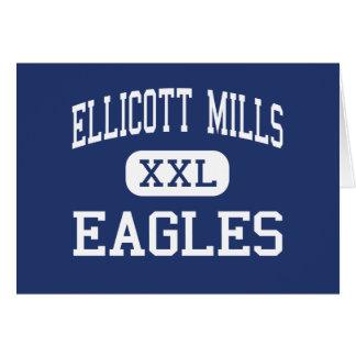Ellicott muele la ciudad media de Eagles Ellicott Tarjeta De Felicitación