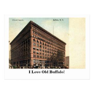 Ellicott Sq., búfalo, vintage 1909 de NY Postal
